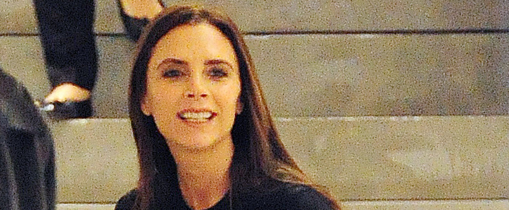 Victoria Beckham Smiles Big at Her London Shop