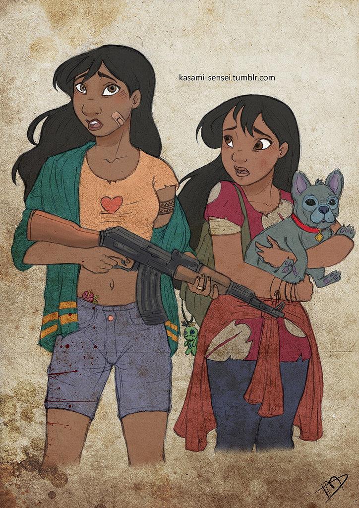 Nani, Lilo, and Stitch | Disney Princesses Become Badass ...