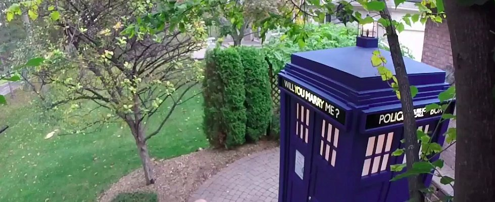 A Custom-Made TARDIS Makes This the Best Proposal in All of Space and Time