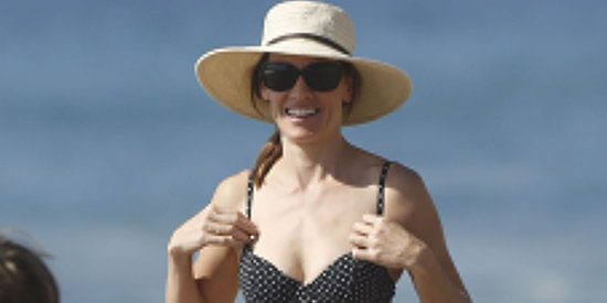 Hilary Swank Rocks A Polka Dot Bikini In Malibu