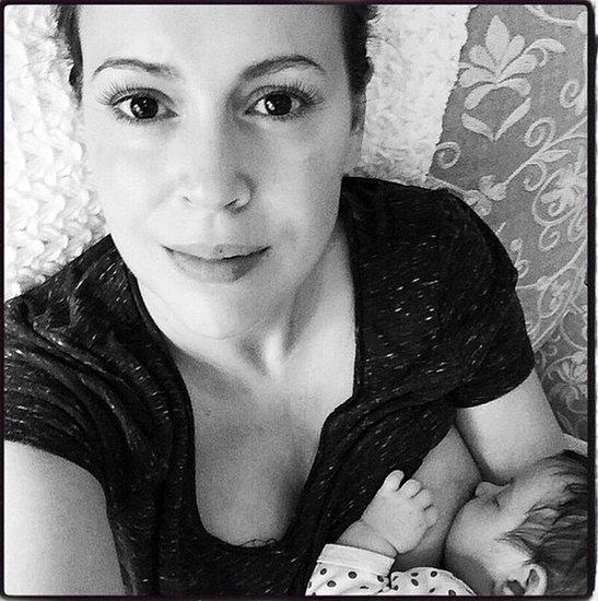 Alyssa Milano's Breastfeeding Picture