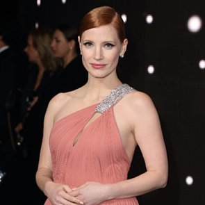 Jessica Chastain in Pink Dress at the Instellar Premiere