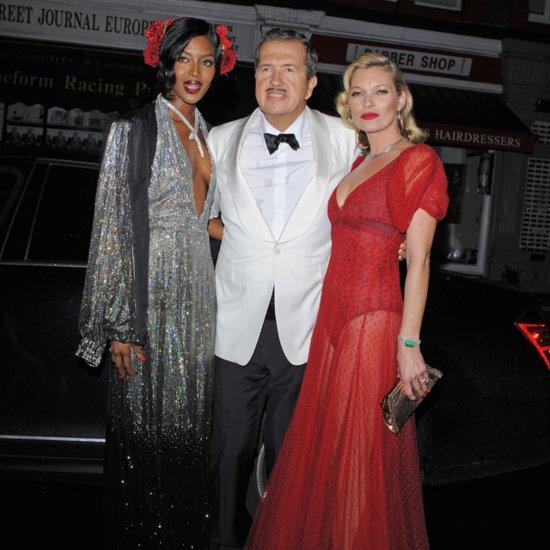 Kate Moss & Naomi Campbell at Mario Testino's 60th Birthday