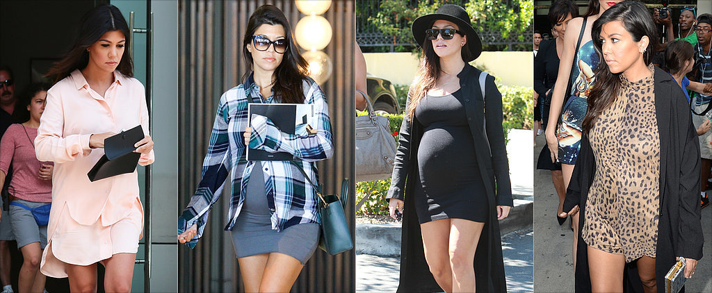 Round 3 of Kourtney Kardashian's Right-on-Trend Maternity Style