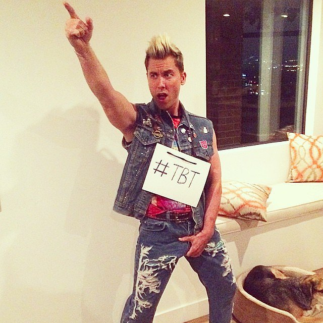 Lance Bass threw it back to a version of himself in *NSYNC in 2014.