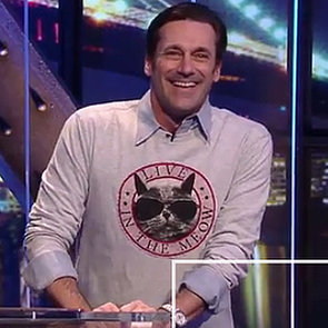 Jon Hamm Talks About Cats on @Midnight | Video