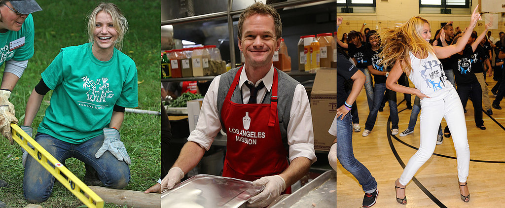 38 Pictures of Charitable Celebrities Giving Back
