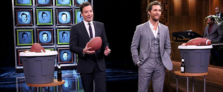 Watch Matthew McConaughey and Jimmy Fallon Literally Break Each Other's Faces