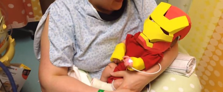 The Sweetest Use of a Teeny-Tiny Iron Man Costume Ever