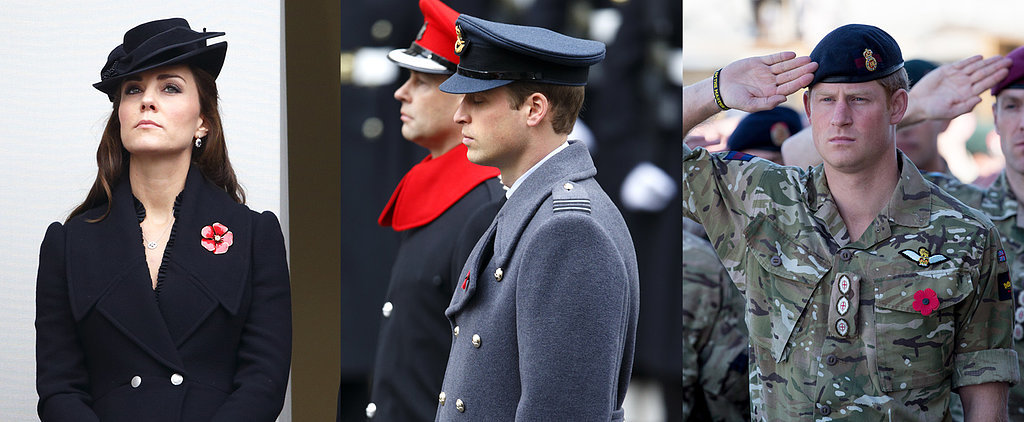Kate, Will, and Harry Pay Their Respects to Fallen Soldiers