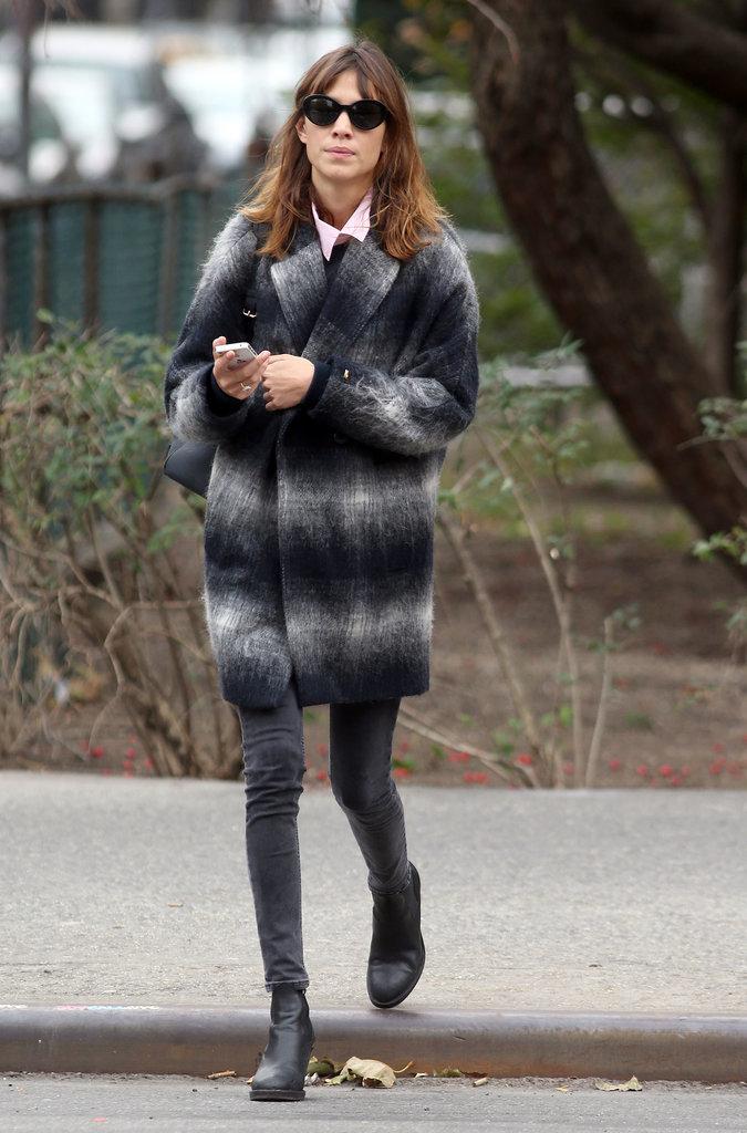 Alexa Chung's Outerwear Style