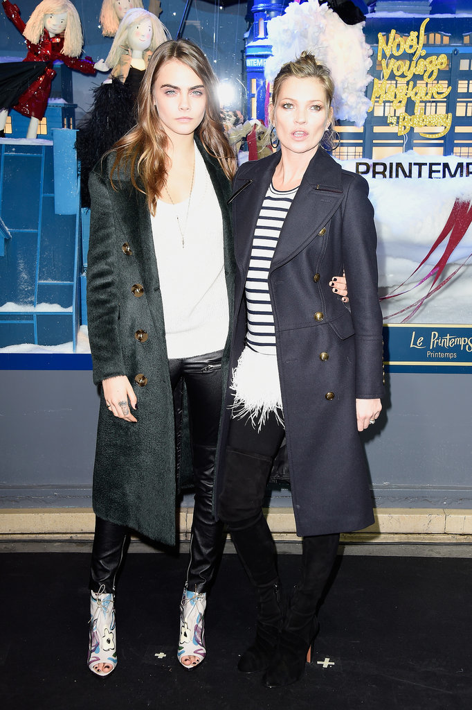 Cara Delevingne's and Kate Moss's Outerwear Style