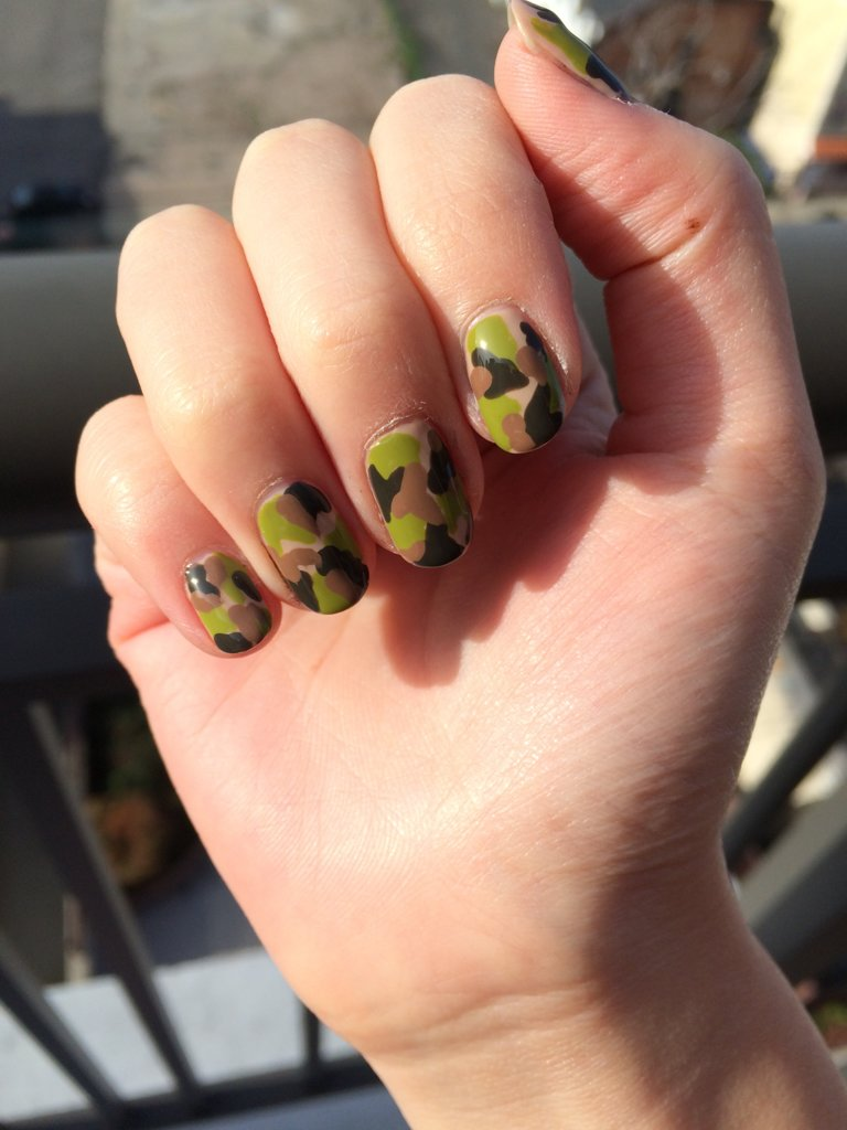 Camo nail designs pictures awesome pink camo nails nail art view images camouflage nail art prinsesfo Image collections
