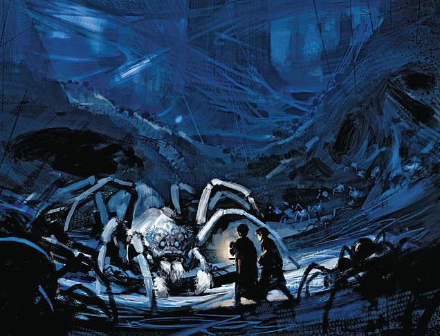 Aragog Harry Potter S Original Concept Art Might Give
