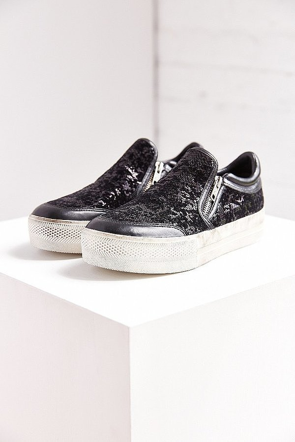 Ash Jordi Black Sequin Slip-On Sneaker