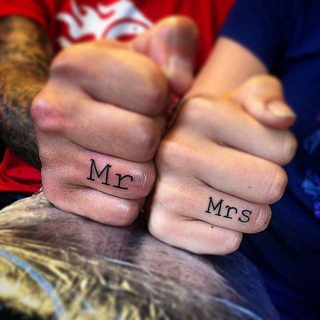 Real-Girl Engagement Tattoos