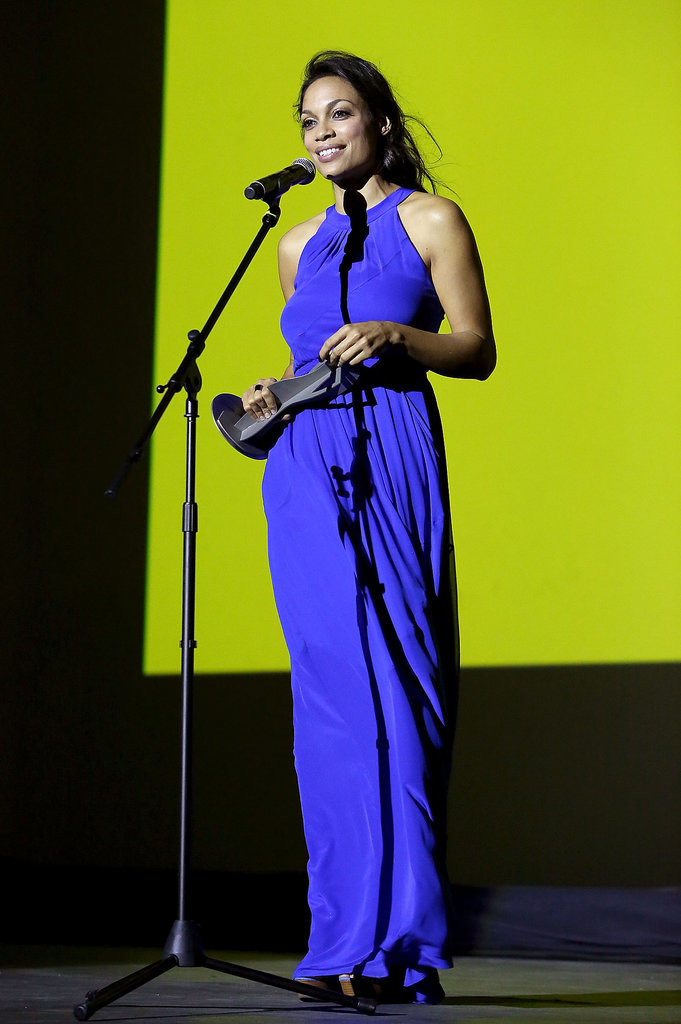 Rosario Dawson dazzled on stage at the Los Cabos International Film Festival in Mexico on Saturday.