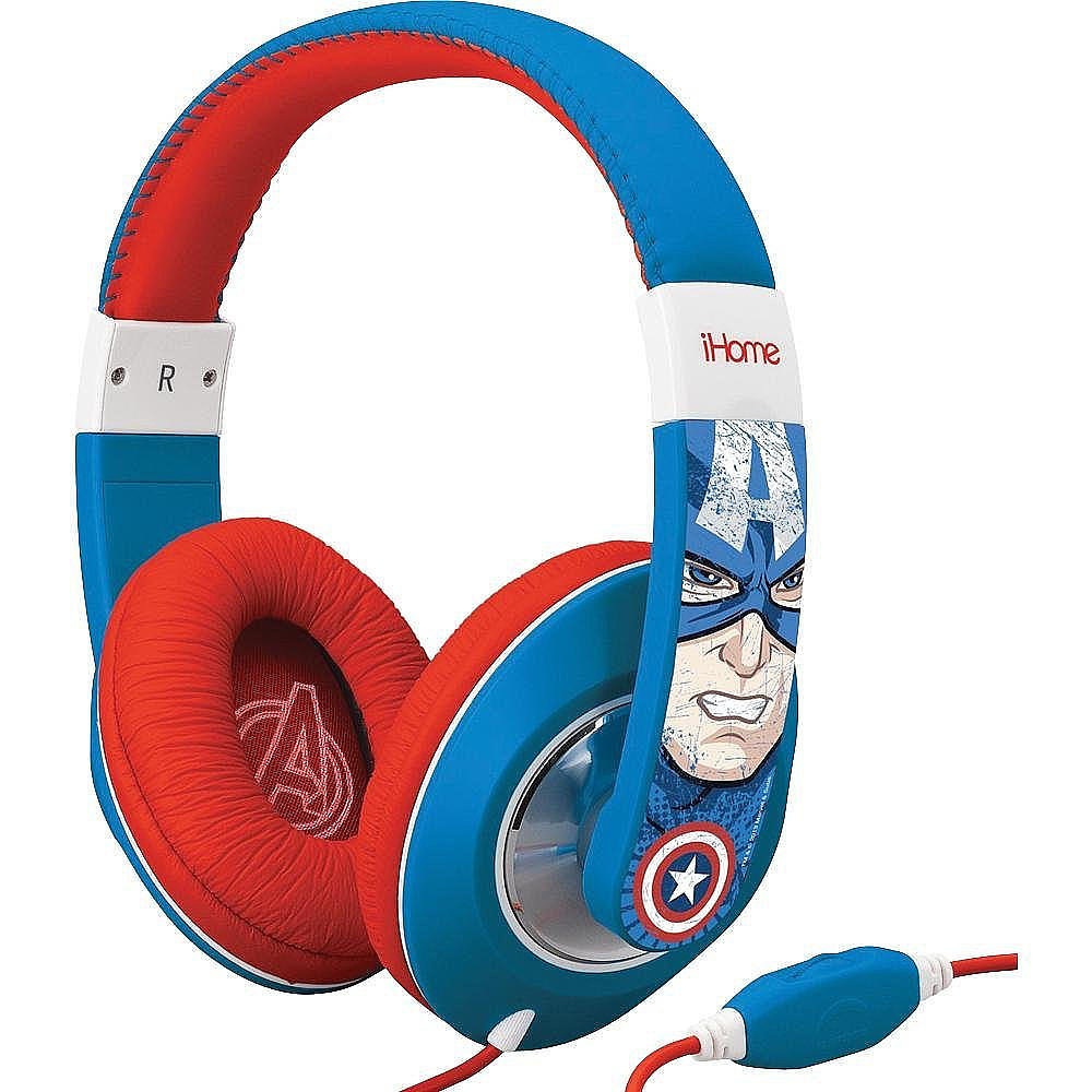 For 6-Year-Olds: Captain America Over-the-Ear Headphones