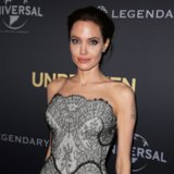 Angelina Jolie in a Black Dress at Sydney Unbroken Premiere