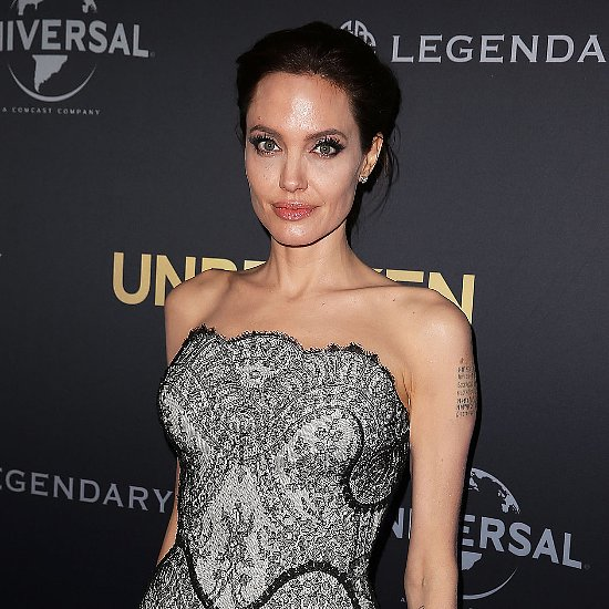 Angelina Jolie in a Black Dress at Sydney Unbroken Premiere