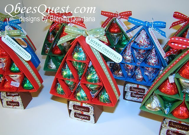 Hershey kiss christmas tree 45 diy gifts for co workers cousins or