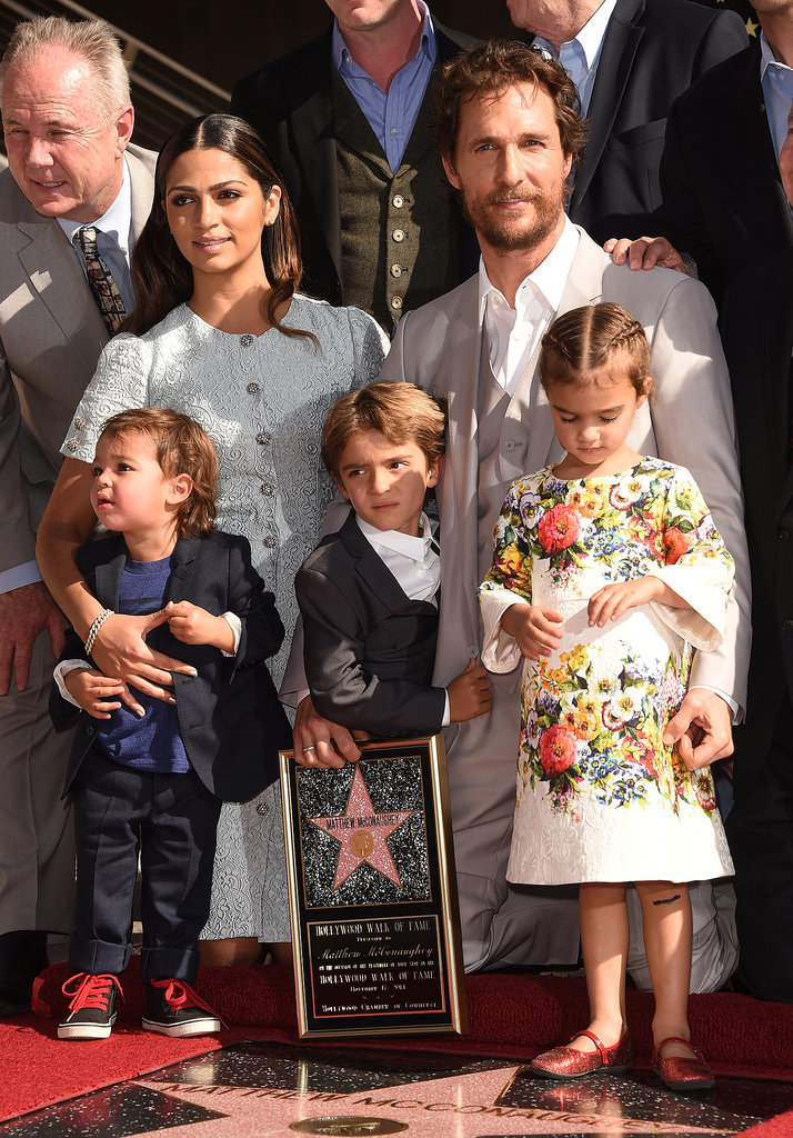 Family photo of the actor, married to Camila Alves McConaughey, famous for Mud & Dallas Buyers Club.