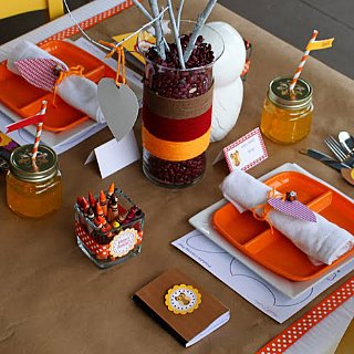Thanksgiving Kids' Table Inspiration