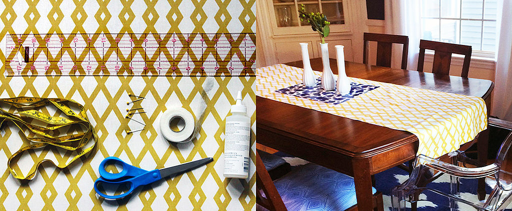 The No-Sew Trick to Making a Table Runner