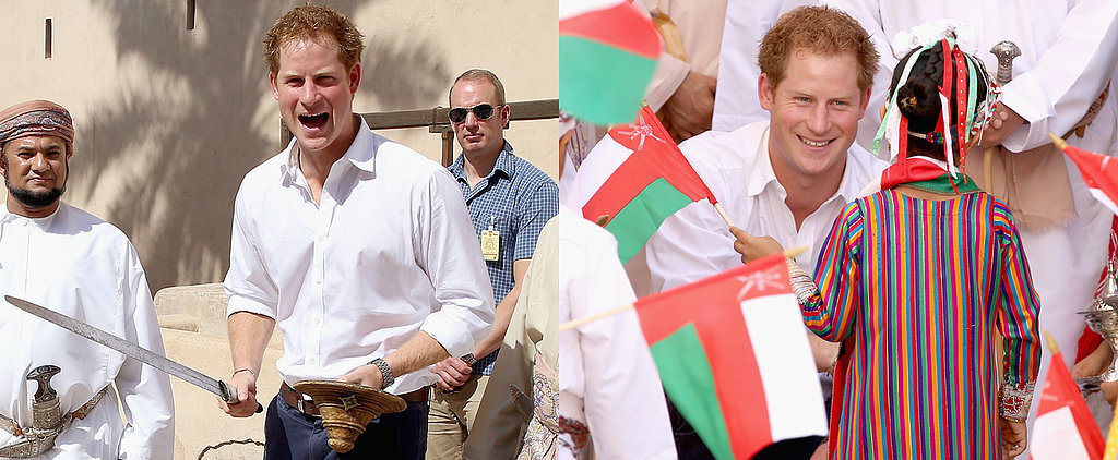 Looks Like Prince Harry Is Having a Lot of Fun in the Middle East