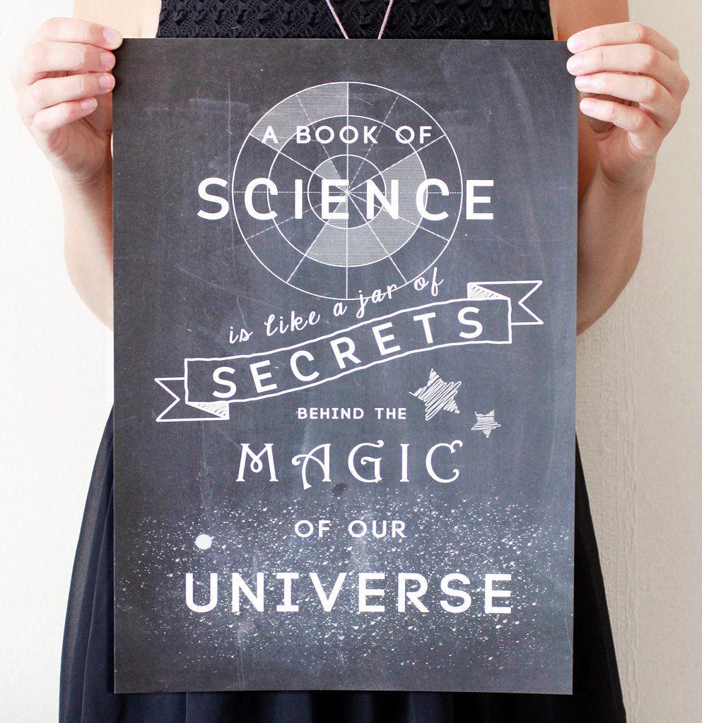 A book of science is like a jar of secrets ($19-32)
