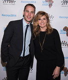 Taylor Kitsch with short hair and girlfriend with Connie Britton at Annual African Children's Choir Gala