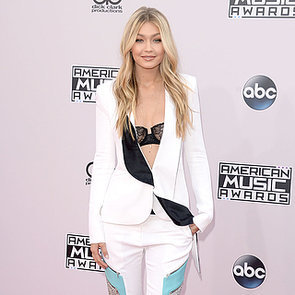 Gigi Hadid in a Black Bra at the 2014 American Music Awards