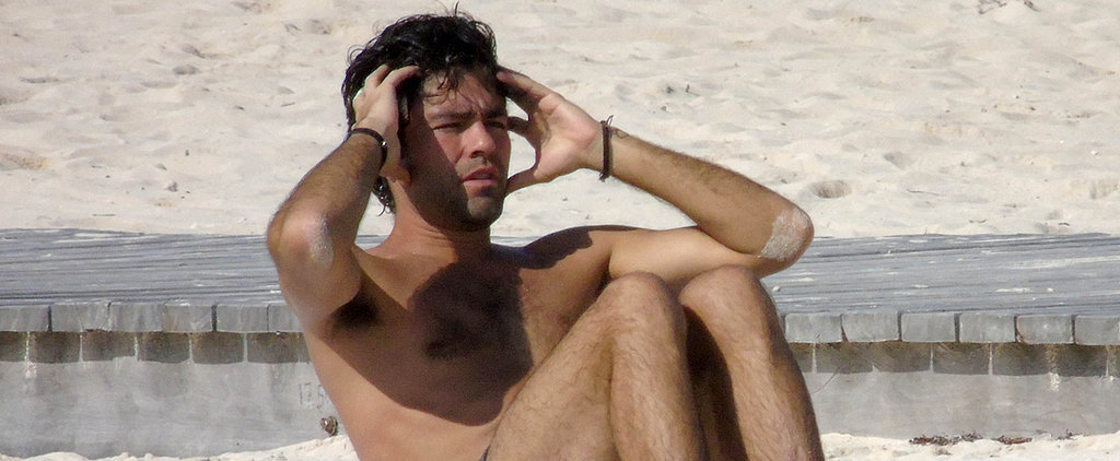 Adrian Grenier Squeezes In a Shirtless Workout on Vacation