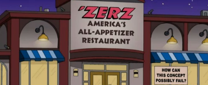 The Simpsons' All-Appetizer Restaurant Is Actually Kind of Brilliant