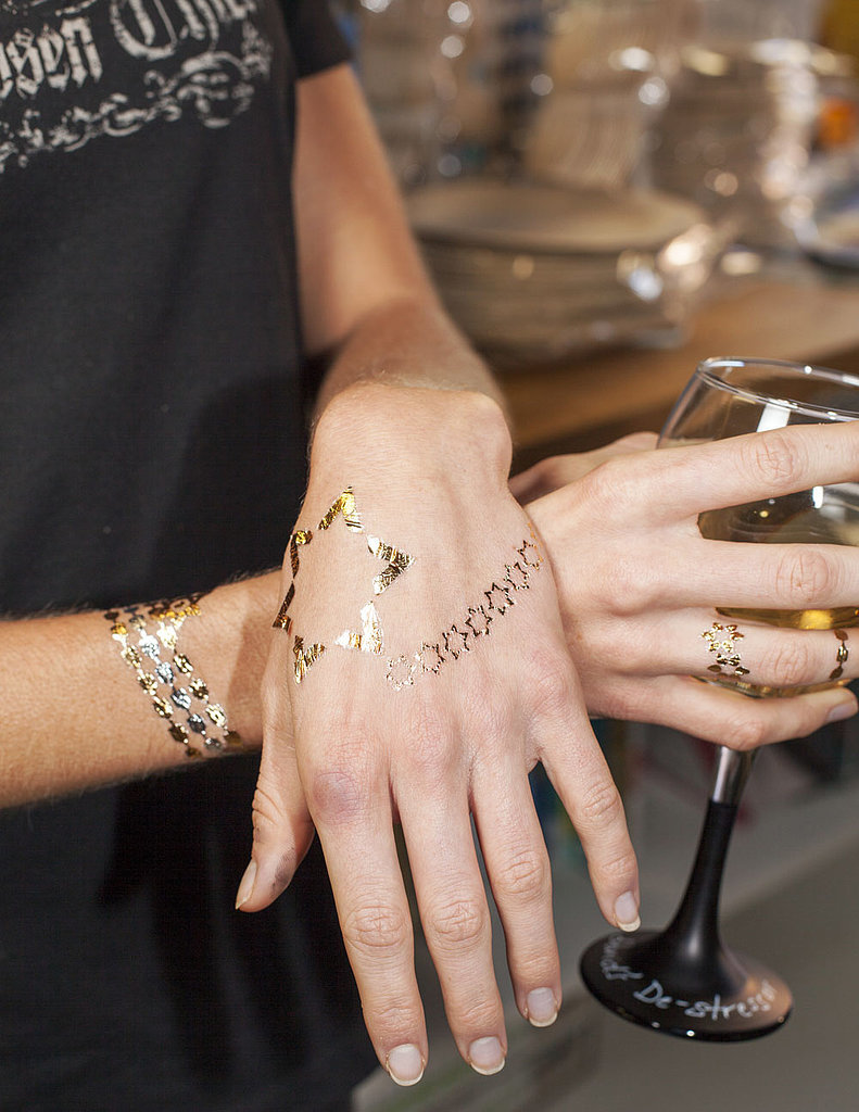 Hanukkah Gold & Silver Metallic Temporary Tattoos