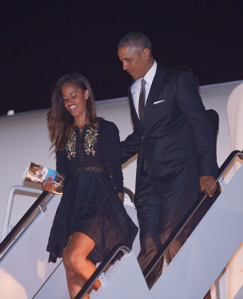 President Obama and Malia were all dressed up after the family attended a wedding in New York.