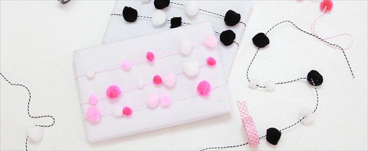 DIY Pom-Pom Garland and Gift Wrap