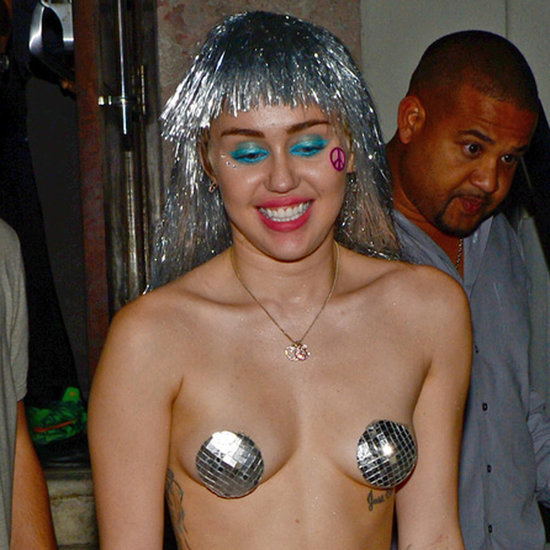 Miley Cyrus Wearing Pasties With Patrick Schwarzenegger