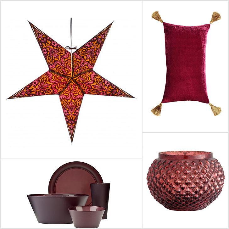 Accesorios para decoración en color marsala