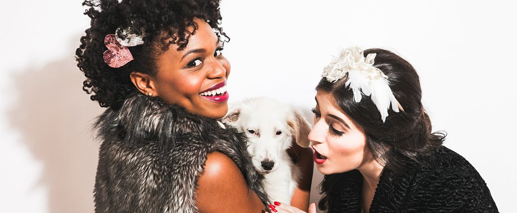 Break the Internet: Puppies Paired With Chic Holiday Hair Accessories