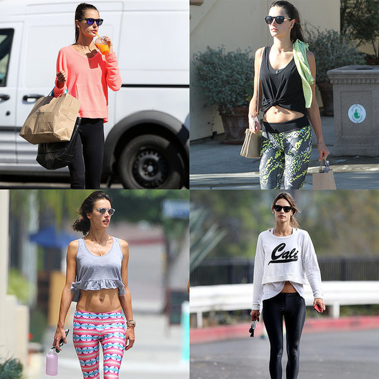 Alessandra Ambrosio Working Out