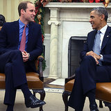 Prince William With President Obama at the White House
