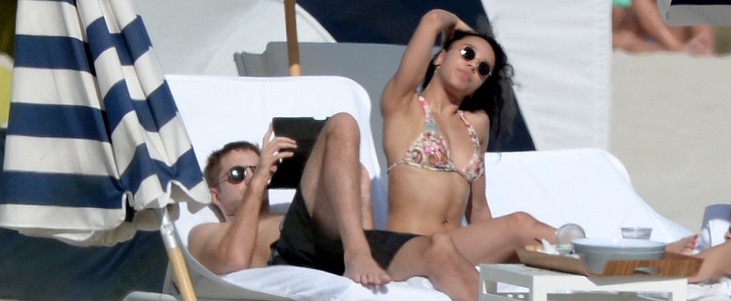 Robert Pattinson and FKA Twigs Bring Their Steamy PDA to the Beach