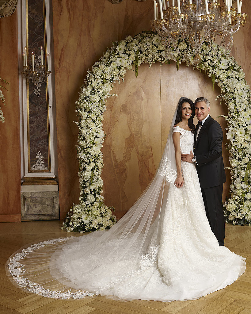 Best celebrity wedding dresses 2014 popsugar fashion for Best day for a wedding