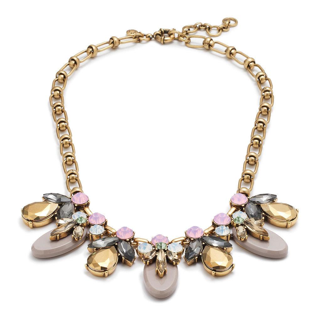 J.Crew Crystal Drop Necklace