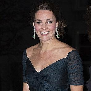 Kate Middleton Pregnant Wearing Jenny Packham Dress New York