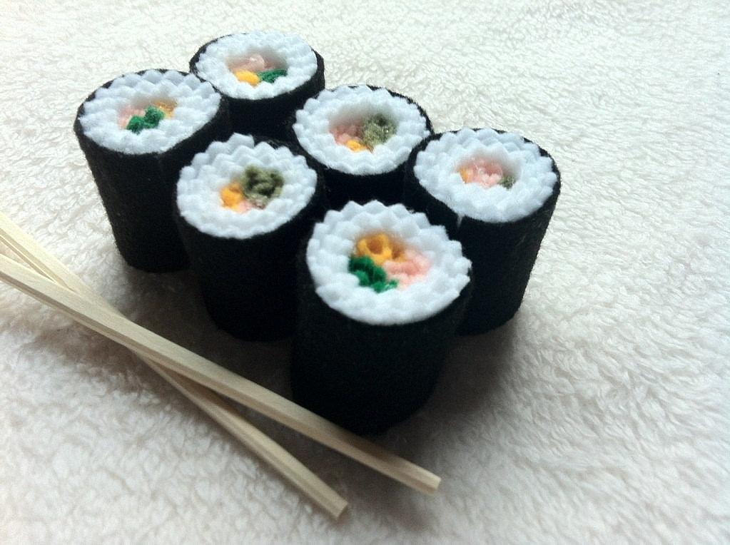 Kinsey Krafts Sushi Felt Toy ($7)