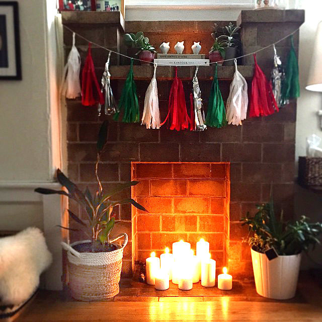 Decorating Fireplaces With Candles: Fill A Fireplace With Candles