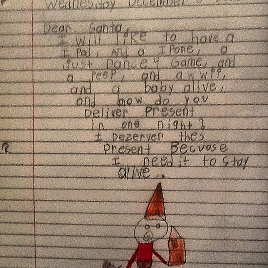Funny Notes Kids Write Santa Claus