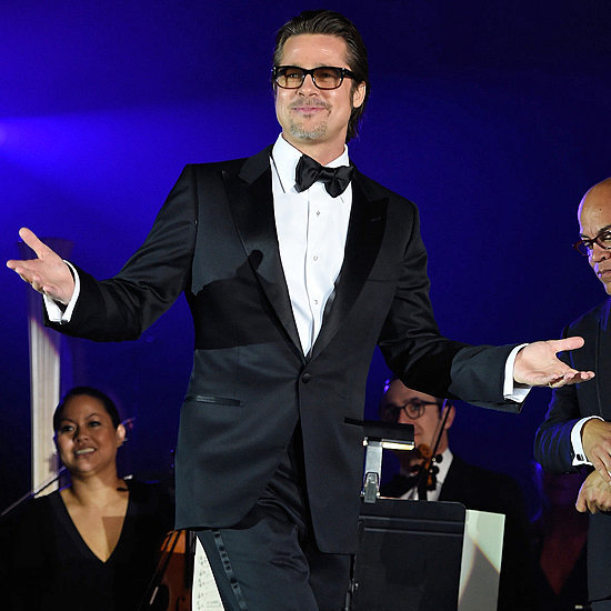 Celebrities Brad Pitt at Rihanna's Diamond Ball Charity Gala